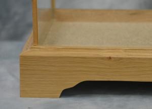 Oak Framed Glass Case Natural