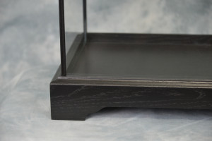 Oak Framed Glass Display Case Painted