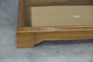 Oak Framed Glass Display Case Standard