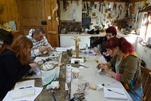 bird taxidermy traiing course manikins